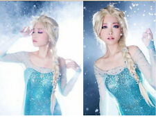 Decorative Flowers Disney Princess Frozen Snow Queen Elsa Cosplay Wig-New
