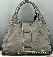 New GUESS Handbag Ladies Rebel Stud TAUPE SATCHEL Bag Purse USA