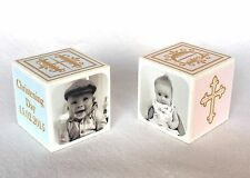 Personalised Wooden Memory Block Baby Boy - Girl - Christening Gift - Keepsake