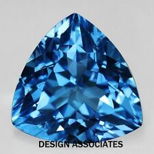 SWISS BLUE TOPAZ 7 MM TRILLION CUT ALL NATURAL AAA