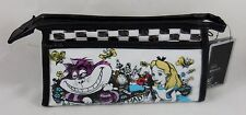 New Disney Alice In Wonderland Were All Mad Here Cosmetic Make-Up Tote Bag Purse