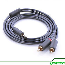 Ugreen 2 RCA to 3.5mm Male Aux Cable Gold Plated 3.5 Jack Audio RCA - 1M - AV102
