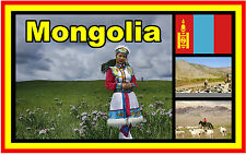 MONGOLIA - SOUVENIR NOVELTY FRIDGE MAGNET - BRAND NEW - GIFT