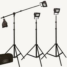 Photography Studio Video LED 3 Light Kit Boom Sandbags Clips Velcro Steve Kaeser
