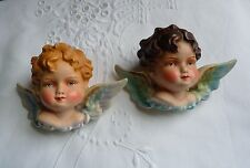 ANTIQUE HAND PAINTED GERMAN CHERUBS