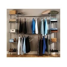 Metal Closet Organizer Expandable System Storage Shelving Unit Bedroom Shelves