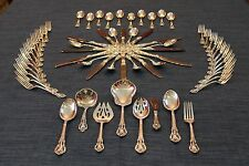 Lunt Eloquence 62 Piece Sterling Silver Complete Flatware Set For 12 + SRVRS
