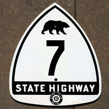 California ACSC bear route 7 highway road sign auto club AAA Mojave Los Angeles