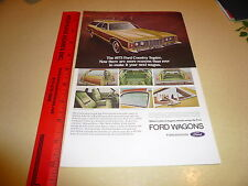 1973 Ford Country Squire Ad Advertisement Vintage