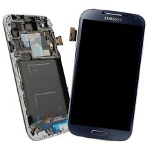 LCD TOUCH SCREEN- FRAME SAMSUNG GALAXY GT-I9505  (DARK BLUE ) + kit rip. s4