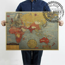 """Map World War Earth Strategy Globe Vintage Retro Wall Home Office Poster 27x20"""""""