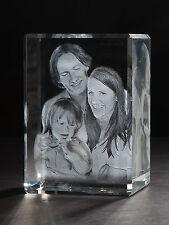 Laser Foto im 3D Glas Block Venezia 130x90x75mm Glasfoto Bilder Geschenk