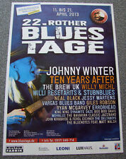 Poster Plakat - Rother Bluestage 2013, Johnny Winter, ... Format DIN A1