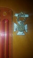 VINTAGE PIN MEDAL NOCTURNAL ADORATION SOCIETY Slogan Thy Kingdom Come Eucharist
