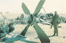 Destruction at Aborted Rescue Attempt of American Hostages in Iran Postcard