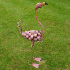105CM Garden Pond Pink Stand Flamingo Metal Outdoor Ornament Display Sculptures