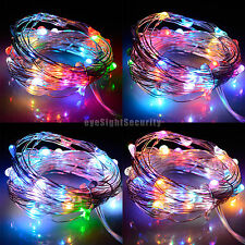 5M/16.4FT Flash RGB 50LEDs Rope Battery Operated Portable LED Lights String