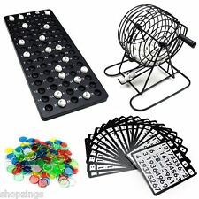 Complete Bingo Game Set. Cage Balls Cards Markers Board Kit Family Fun Night NEW