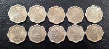 2 PAISE 1963 CALCUTTA MINT  COPPER NICKEL UNC 10 COINS LOT-RARE