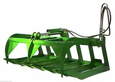 "60"" Grapple Bucket Attachment for John Deere 200 300 400 500 Loaders rake root"