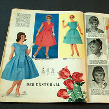 1960s 1950s GERMAN FASHION & SEWING PATTERN MAGAZINE - Vintage 50s 60s BALL GOWN