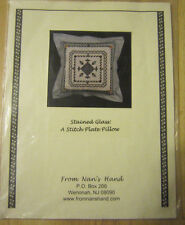 From Nan's Hand Stained Glass Stitch Plate Pillow Counted Cross Stitch Pattern