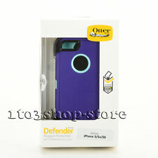 OtterBox Defender Rugged iPhone SE 5s 5 Case w/Holster Belt Clip Purple/Teal NEW