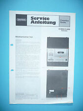 Service Manual Grundig C 400/C 409 Automatic,ORIGINAL