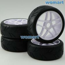 4pcs NEW 1/8 RC Soft Tires Tyres w/ Hex 17mm Wheels Rims For RC HPI On-Road Car