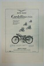 Pubblicità 1956 CARDELLINO MOTO GUZZI MOTOR ITALY advertising reklame werbung