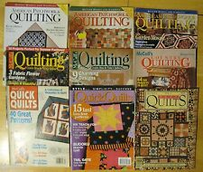 LOT OF 9 BETTER HOMES & GARDENS AMERICAN PATCHWORK & QUILTING MAGAZINES QUILT