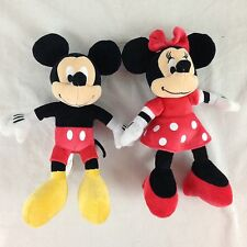 """Disney Collection Mickey Mouse And Minnie Mouse 10"""" Plush Toy Set"""