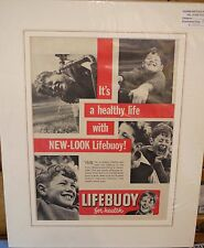 Original Vintage Advert mounted ready to frame Lifebuoy the healthy family soap