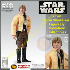Figura De Star Wars Yavin Luke Skywalker por Sideshow Collectibles-NUEVO