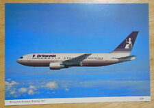 Postcard of Britannia Airways 767 from 1980s Unposted, VGC Aeroplane