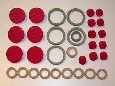 LEGO SYSTEM LOT OF VINTAGE CLASIC WHEELS & TYRES 1960s DENMARK