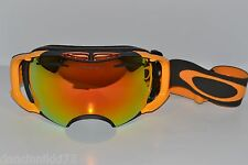 CLEARANCE OAKLEY AIRBRAKE Snow Goggles... Dark Gunmetal/FIRE + Persimmon Lenses