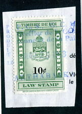 Used Quebec Law Stamp on Paper #QL109 (Lot #11478)