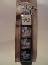 TIM HOLTZ DISTRESS INK MINI PACK #3 TDPK40330 BNIP 4 MINI INK PADS *LOOK*