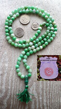 Mixed Green White Jade Handmade 8mm 108+1 Buddhist Mala Beads Necklace-Energized