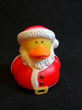 "Santa Claus Rubber Ducky 2"" Duckie Red Squeezable Christmas Holiday Toy"
