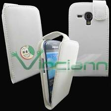 Custodia Flip BIANCA per Galaxy S3 mini Value i8200 cover apertura verticale