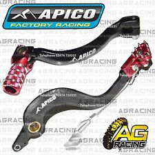 Apico Black Red Rear Brake & Gear Pedal Lever For Honda CR 125 2005 Motocross