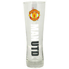 MANCHESTER UNITED FC WORDMARK PERONI TALL BEER PINT GLASS 24 CM NEW XMAS GIFT