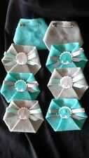 30PC Baby Shower Dirty Diaper Game Elephant Teal & Grey  SAFETY PINS INCL