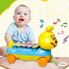 Baby Kids Cute 5-Note Xylophone Pull-Along Musical Development Colorful Toy Gift