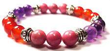 CANCER FIGHTER 8mm Crystal Intention Bracelet w/Description - Healing Stone