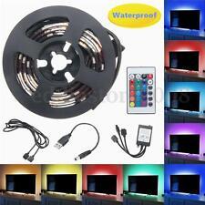 2x 50cm USB RGB Multi-Color LED Flexible Strip TV Background Home Light Kit