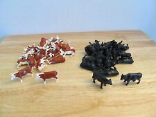 1/64 Ertl Farm Country Hereford and Black Angus steers mixed lot of 40