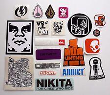 Volcom,Electric,Osiris,Untho,Skullcandy,Nikita & etc sticker set 20pcs Set#9
